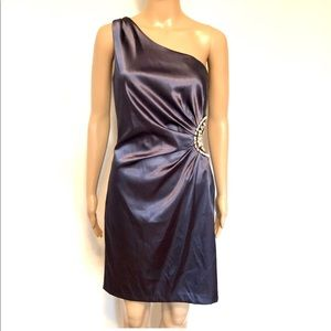 Betsy&Adam party one shoulder dress